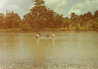 Baptism in Tor river
