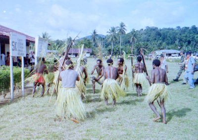 Berik dancers welcome guests to the New Testament celebration