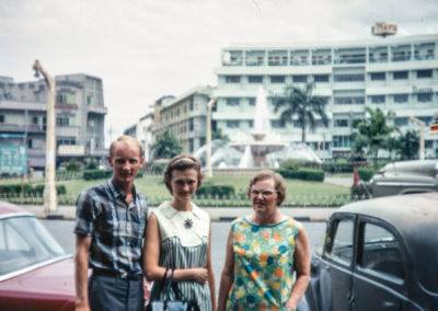 Peter, Sue, and Mom Westrum in Thailand