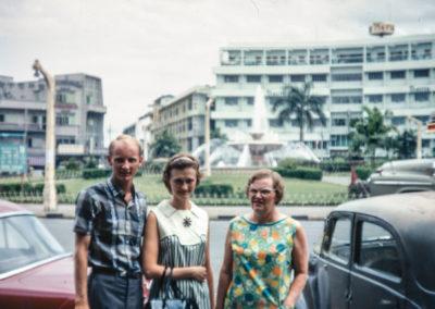 Peter, Sue, and Mom Westrum in Thailand