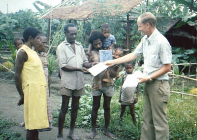 Peter distributing the Life of Christ booklet