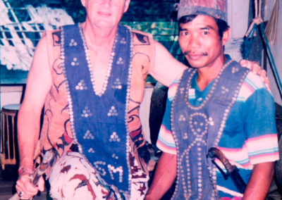 Peter was befriended by a Dayak chief