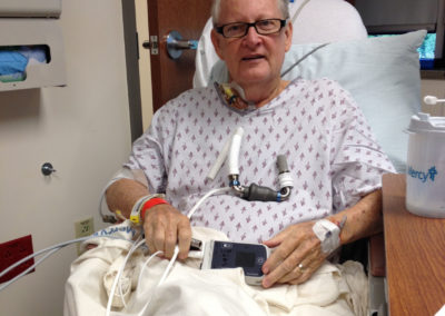 Peter with his new heart pump on the day before implantation
