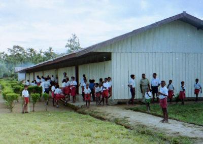 School children gathering