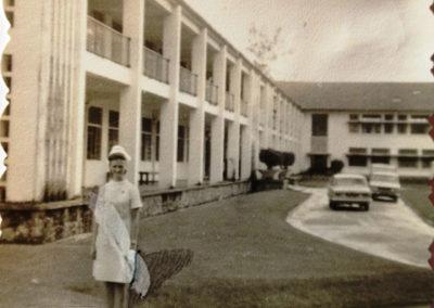 Sue at Sandakan hospital