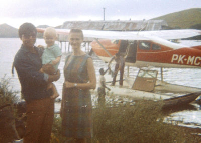 Sunarjo, David, and Sue by float plane