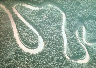 The Tor River snakes its way through the jungle