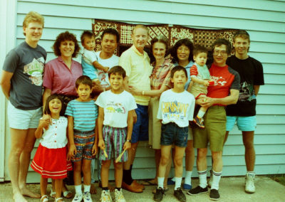The whole Peter Westrum family