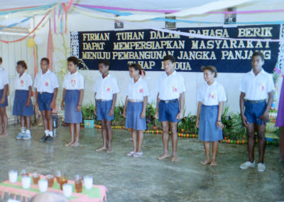 Two students from each of the Berik areas recited memory verses